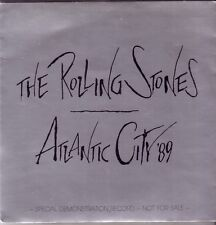 "ROLLING STONES ""Atlantic City 89""  Special Demonstration Record  Clear Vinyl 7"""