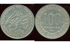 TCHAD  100 francs  1975