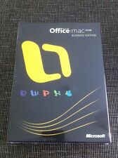 MS Office 2008 Business Edition für MAC, Retail Vollversion mit MwSt Rechnung