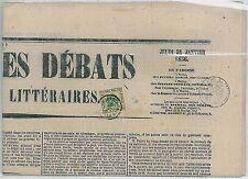 Antichi Stati: LOMBARDO VENETO - Tasse per giornali 1b su GIORNALE 1856