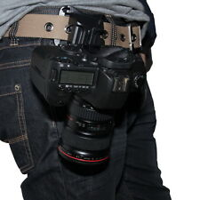 Universal DSLR Digital Camera Waist Belt Holster Quick Strap Buckle Hanger Clip