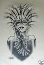 1995 Andrea Mistretta Lace & Leather Mardi Gras Art New Orleans Famous