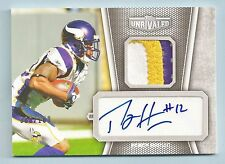 PERCY HARVIN 2010 TOPPS UNRIVALED 3 COLOR PATCH AUTOGRAPH AUTO /100 VIKINGS