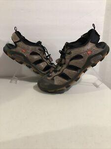 Ecco Yak Hiking Sandals Sz 44 US 10-10.5 Brown