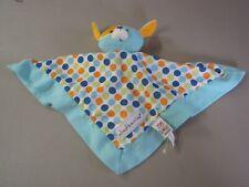 Baby Ganz Wheatberries Dog Blue Polka Dot Lovey Security Blanket Lovey Plush