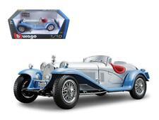 1932 Alfa Romeo 8C 2300 Spider Touring Silver 1:18 Model Car - Bburago -12063SIL
