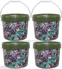 4 x MIMETICO Esche Bucket con manico in metallo 2 x 2.5 L + 2 x 10L carpa pesca del luccio