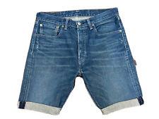 Original Levi's 501® Classic Regular Fit Blue Denim Shorts W32 L9 ES 7249