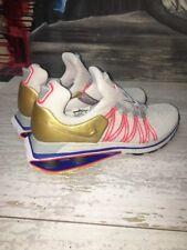 Nike Shox Gravity Vast Grey Metallic Gold Running Shoes AQ8553-009 Sz 7 (5m)