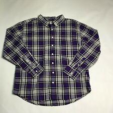 Gymboree Plum Party Dads Plaid Long Sleeve Button Down Shirt Sz Large NWT