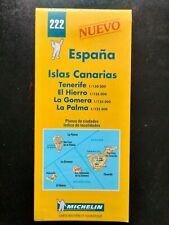 CARTE MAP MICHELIN N°222 4 ILES CANARIES 1999 NEUVE TENERIFE HIERRO GOMERA PALMA