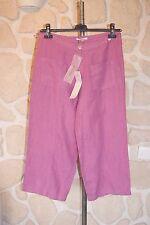 Pantacourt violet neuf taille 42 marque Rivières de Lune étiquettée à 99€ (v)