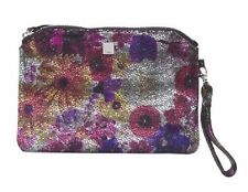 LODIS Metallic Floral Leather Pouch