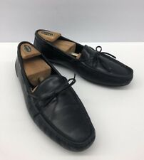 ba46c1951be  350 BRAGANO Black Leather Slip On Loafers Driving Shoes Men s Sz 8.5 M