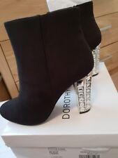 d222fb40911 Black GEMSTONE Sparkle HEELS Ankle BOOTS Size 7 Dorothy Perkins