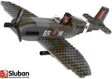 Sluban WW2 Toy Plane Spitfire Model Building Bricks Blocks Army Aeroplane 70071