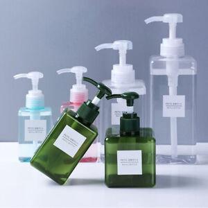Portable Travel Hand Pump Soap Dispenser Shampoo Shower Lotion Refillable Bottle