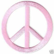 """3"""" Pink Hippy Peace Sign Symbol patch"""