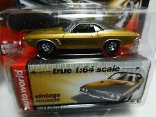 1:64 AUTO WORLD Premium 2B = Gold 1973 Dodge Challenger *NIP!*