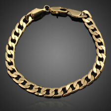 "Unisex Modern Wristwear Bracelet Chain 14k Yellow Gold Filled Jewelry 8"" length"