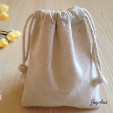 100x Vintage Natural Linen Pouch Favour Bags Wedding anniversary Party favor bag