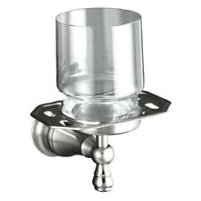 Kohler Revival Tumbler Holder Wall Mounted Brushed Chrome Bathroom Accessory