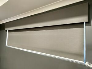 Padded Pelmet - Blinds Gallery - Steel Colour - Near New Condition