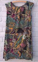 TU Bold Paisley Floral Print Cap Sleeve Stretch Tunic Top Dress Size 12