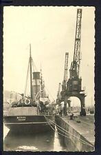 """Carte Postale de 1950 FECAMP (Seine Maritime) QUAI CHALUTIER """" MEROU """" Grues"""