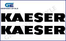 2 Stück KAESER - Kompressor Aufkleber - Sticker - Decal !
