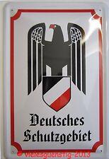Blechschild 20x30 cm - Deutsches Schutzgebiet (weiß)