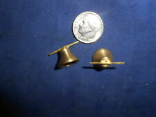 Two (2) Brass Bells For Lionel 390 & 400E + American Flyer O & Std. Gauge (Nos)