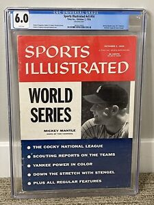 Mickey Mantle Sports Illustrated CGC 6.0 Mantle's 2nd SI cover - FREE SHIPPING!!