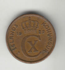 ICELAND 1 EYRIR 1939 LARGE 3 COPPER           60D     BY COINMOUNTAIN