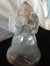 Angel Bell ~ Porcelain ~ Blue 5 inches