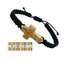 Handmade Cross Bracelet Medjugorje Apparition Hill Stone Christian Gift For Men