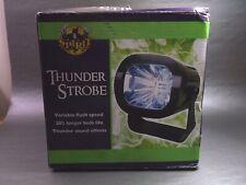 Holiday Home Thunder Sound Strobe LED Light Black Cased Halloween Decor