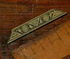 brass line bookbinding Art Nouveau gilding bookbinder embossing stamp border ~~