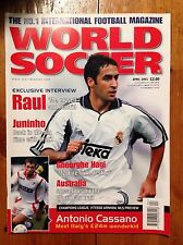 World Soccer Magazine - April 2001 (Raul, Juninho, Gheorghe Hagi, Cassano)