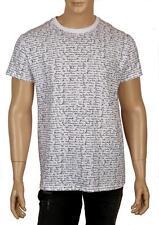 NEW DIOR HOMME WHITE BLACK COTTON MONOGRAM T-SHIRT SHIRT XL