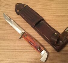 CASE Fixed Blade Knife CASE'S STAINLESS Stamp 5 Finn Nice Red Stag hunting