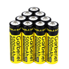 10PCS 3.7V 5000mAh Li-ion Batteries Rechargeable 18650 Battery For Flashlight