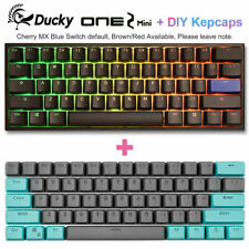 Ducky One 2 Mini Mechanical Keyboard RGB Double Shot PBT 60% + Green Keycaps Set