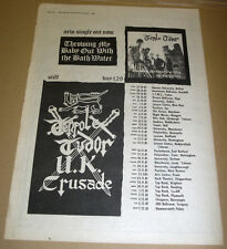 Ten Pole Tudor - UK Crusade tour + UK dates VINTAGE magazine advert POSTER 1985