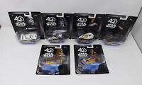 2017 Disney Star Wars 40th Mattel Hot Wheels Character Cars - New