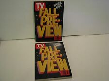 Vintage 1991 Sept.14-20 TV Guide -fall Pre-View Special Issue lot of 2 magazines
