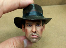 BD 1/6 Indiana Jones Head Sculpt DX 05 Muscle Body Whip Jacket 357 Bag Hot Toys