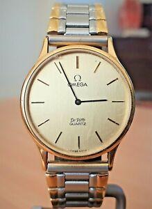 Vintage Omega DeVille GP Swiss 9 jewel quartz watch - repair or spares