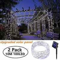 [2 Pack]Outdoor Solar Garden Lights, Ooklee Solar Fairy String Lights, 10M