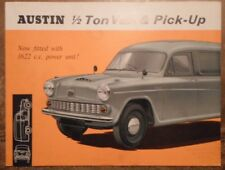 AUSTIN 1/2 TON VAN & PICK UP orig 1963 UK Mkt Sales Brochure